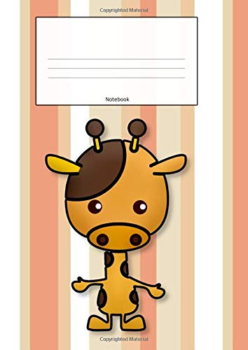 Notebook: Giraffe Stripes Cover | Composition Book | Cursive Handwriting Paper | Script for children| Longhand | Joined-up writing for Kids