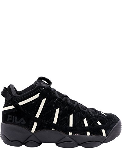 Fila Men's Spaghetti Hightop Basketball Shoes Sneakers (13 D(M) US, Black/Fila Cream/Fila Cream)