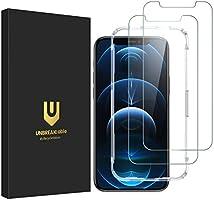 UNBREAKcable Verre Trempé Compatible avec iPhone 12/12 Pro avec Outil d'Installation -[Double Dureté] 2 Pièces Film...