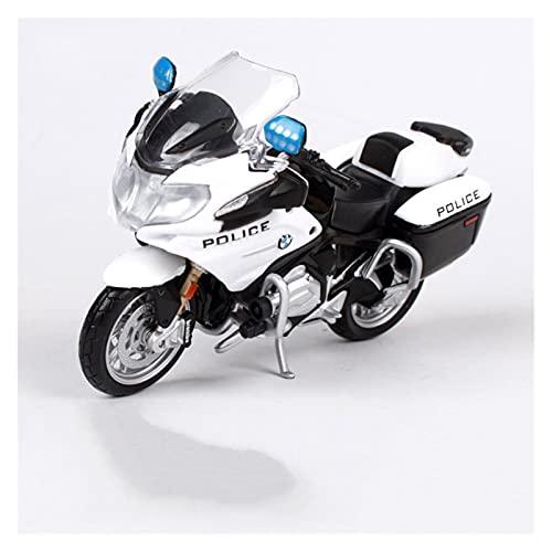 El Maquetas Coche Motocross Fantastico 1:18 para Yamaha FJR Simulación Aleación Motocicleta Modelo De Coche Policía Decoración Colección Regalo Coche De Juguete Regalos Juegos Mas Vendidos