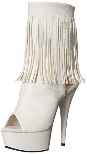 Pleaser Damen Delight-1019 Stiefel, Weiß (Weiß), 41 EU