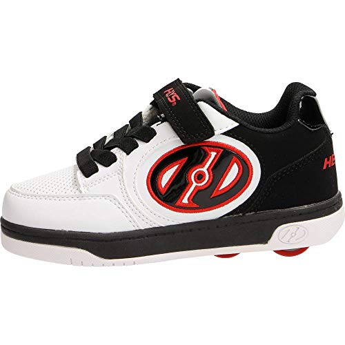 Heelys X2, Zapatillas Unisex niños, (White Black Red), 34 EU