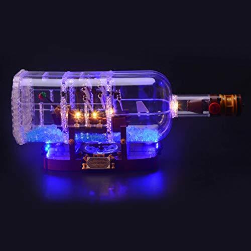 Kit De Iluminación Led para Barco En Botella-Compatible con Ladrillos De Construcción Lego Modelo 21313, NO Incluido En El Modelo