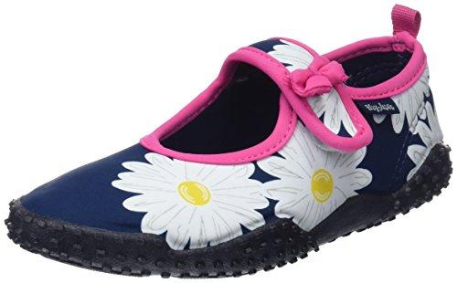 Playshoes Unisex-Kinder Aqua-Schuhe Margerite, Blau (Marine), 26/27 EU