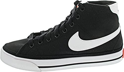 Nike Court Legacy Mid Canvas, Scarpe da Tennis Donna, Black/White-Team Orange, 42 EU