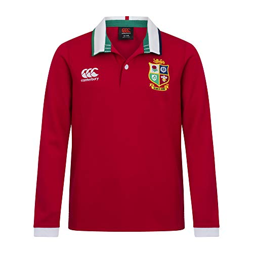 Canterbury Kinder Rugby-Trikot British and Irish Lions, langärmelig XX-Small Rot - Tango Red