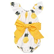 Baywell Baby Girls Clothes Set Pineapple Print TOP+Candy Colors Short 2Pcs