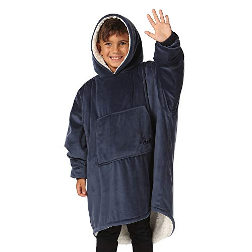 THE COMFY Original JR | The Original Oversized Sherpa Wearable Blanket for Kids, Seen On Shark Tank, One Size Fits All