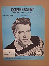 song sheet CONFESSIN' Frank Ifield