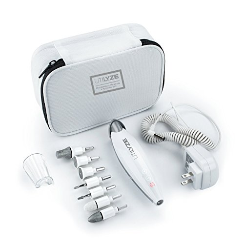 UTILYZE 10-in-1 Professional Electric Manicure & Pedicure Set, Powerful Nail Drill Kit, 10-Speed...