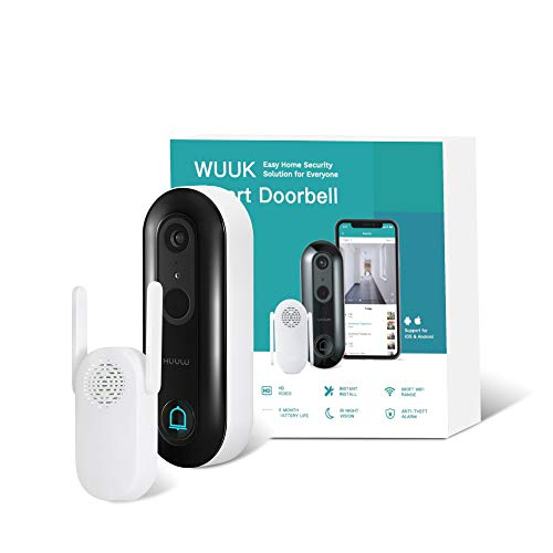 WUUK Smart Video Doorbell Camera wi-fi with Motion Detector