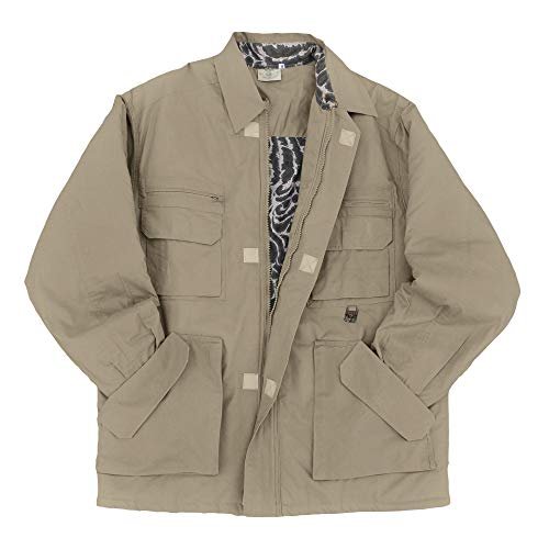 Tag Safari Field Jacket for Men, Lightweight, Multi Pockets, Perfect for Explorers, Photographers and Journalists Khaki