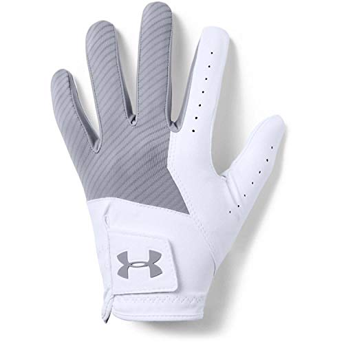 UA Under Armour Mens Left Hand Medal Golf Glove (Grey, M/L)
