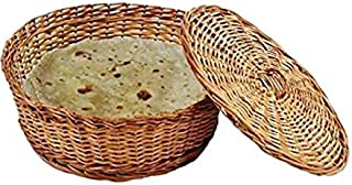 Limra House Wear Cane & Bamboo Chapati Basket (Brown)