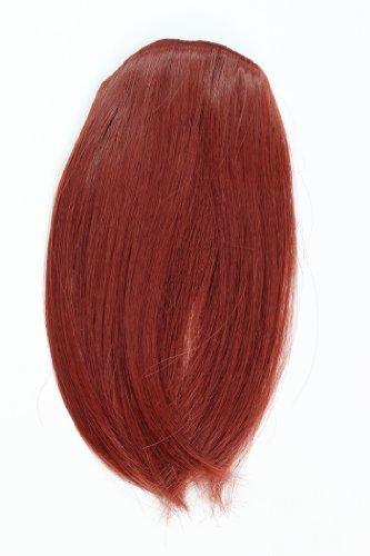Frange à clipper. Couleur: rouge, teinte: 35, 17 cm/ 7 inch, postiche, extension, YZF-1088HT-35