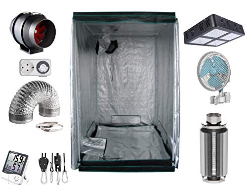 Generic Growbox Komplettset mit moderner stromsparender LED und Filter (AKF) (100x100x200 LED)