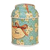 N-K PULABO - Latas de hojalata de té, diseño vintage con flores, para azúcar, caramelo, galletas, tarro de almacenamiento, contenedor de almacenamiento