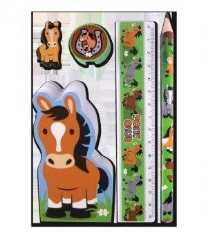 WALDHAUSEN Schreibset Pony Club, farbl. sortiert