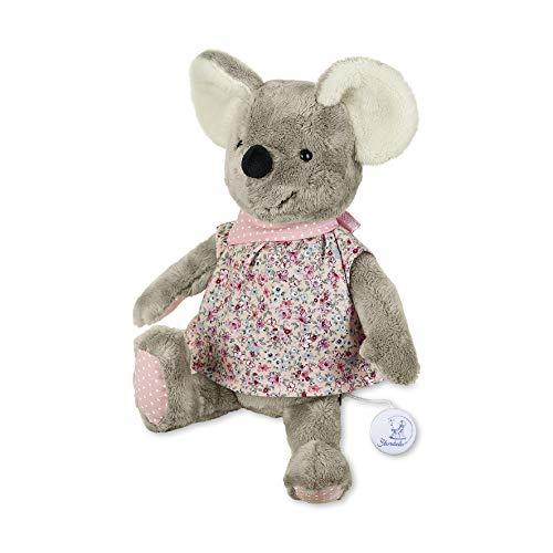 Sterntaler Spieluhr, Stofftier Maus Mabel, Austauschbares Spielwerk, Größe: L, Mehrfarbig/Grau