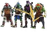 CHUNQING Ninja Turtles Figuras de acción Rafael Leonardo Donatello Juguetes de decoración Familiar Juego de 4 Piezas