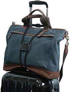 (フォーパリー) Foppery バッグ 固定 ベルト スーツケース 上の サブバッグ の 固定に活躍 ずり落ち 防止 コンパクト 調整可能 旅行便利グッズ (ブラック)