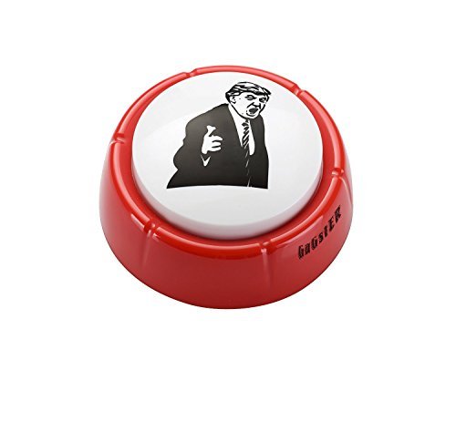 Donald Trump You're Fired Sound Button Gag Toy - Red Base with Hilarious Angry Donald Trump's Face on Top - Push the Button Funny Sound Effect Machine Political Boss Office Gift - 2 Batteries Included