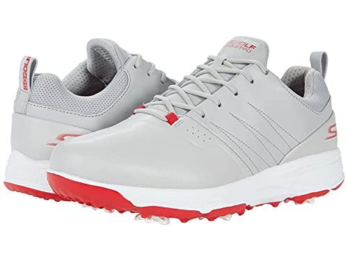 Skechers mens Torque Pro Waterproof Golf Shoe, Gray/Red, 12.5 US