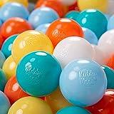 KiddyMoon 100 ∅ 6Cm Bolas Colores De Plástico para...