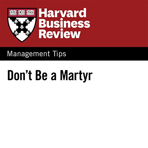 Don't Be a Martyr audiobook cover art