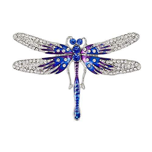 Wicemoon Azul Broches de Cristal Vintage Libélula Broches Para Las Mujeres Visten Accesorios de La Joyería