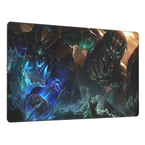 Nautilus LOL League of Legends Gaming Mouse Pad, Large Mouse Pad 15.8 X 29.5-Inch,Computer Keyboard Pad, with Polyester Material and Non-Slip Rubber Base Design