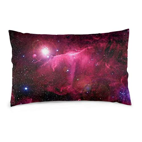 XIEXING Pillow Case Hipster Galaxy Printed Pillow Cases Soft Chair Seat Bedding Pillowcase Coffee Shop Home Decor 16'' X24