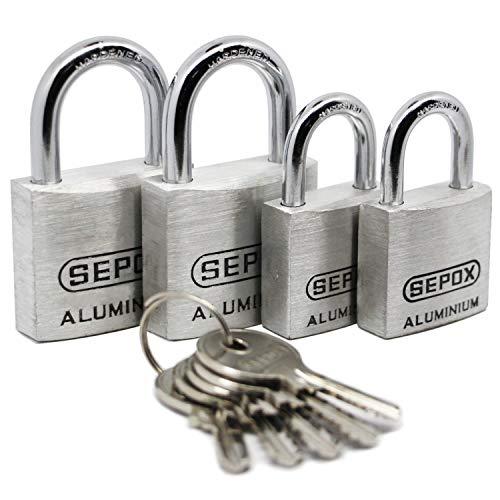 SEPOX Vorhängeschloss aus Aluminiumlegierung, gleichschließend - 30mm*2+40mm*2