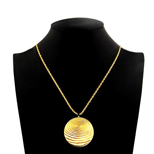 N+NITROLUBE Magnetic Pendant Protection Orgone Necklace Gold Chain Stainless Steel Fashion Jewelry Promote Blood Circulation