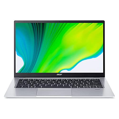 Acer Swift 1 SF114-34-C8FL Ordinateur Portable Ultrafin 14 FHD IPS, PC Portable (Intel Celeron N4500, RAM 4 Go, SSD 256 Go, Intel UHD Graphics, Windows 10) - Clavier AZERTY (Français), Laptop Gris