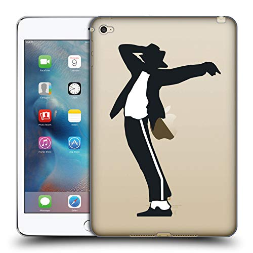 Head Case Designs Officially Licensed Michael Jackson Fedora Silhouette Key Art Soft Gel Case Compatible with Apple iPad Mini 4