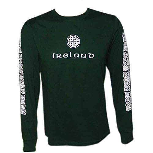 Irish Celtic Design Shirt, Celtic Knot Design, Long Sleeve, Large, Green