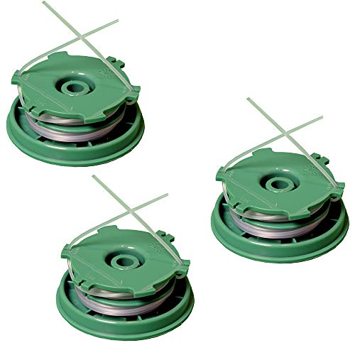 IKRA 73500300-3 Ersatzspulen (DA-F11) 3er-Set Fadenspulen für Freischneider