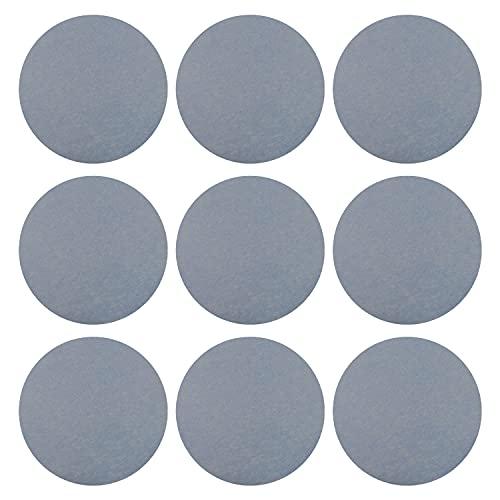 Utoolmart Disco de lija de grano 5000 de 10,16 cm de óxido de aluminio flocado posterior papel de lija sin agujeros para lijadora orbital aleatoria 10 unidades