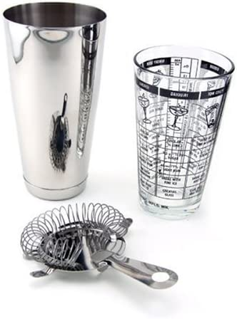 Free Shipping Cheap Bargain Gift 3 Special price for a limited time Piece Bar Cocktail Shaker Kit