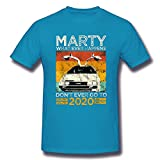 ZYYM Marty Whatever Happens Don't Ever Go To 2020 Men's Basic Short Sleeve T-Shirt Spider Baby Blue Small