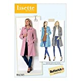 Butterick Patterns B6385 E5 Misses' Funnel-Neck, Peter Pan or Pointed Collar Coats with Custom Cup Sizes by Lisette, Size 14-22 (6385)