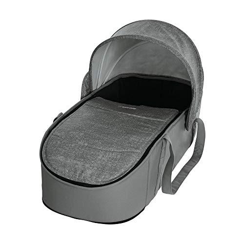 Maxi-Cosi Laika bequem gepolsterte und geräumige Softtragetasche, Kinderwagenaufsatz ab Geburt verwendbar, nomad grey