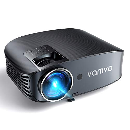 Video Projector, Outdoor Movie Projector with 200' Projection Size, vamvo Home Theater Projector with Platform Pallet, Support 1080P, Compatible with Fire TV Stick, PS4, HDMI, VGA, AV and USB 3600L