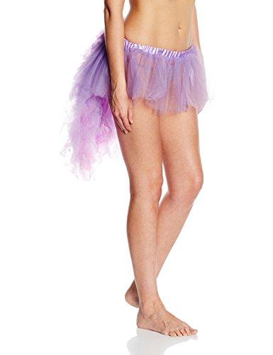 Zoelibat 46023042.11199 Dames tule rok petticoat met veerboa en elastiek petticoat Eén maat lila