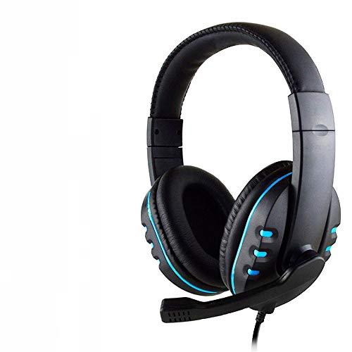 SFBBBO Headset Led Light Gaming Over Ear Headsetgame Headphones Earphone For Computer Pc Ps4 BlueNOLEDPS4