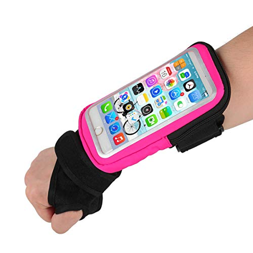 1617 EU Forearm Band Wristband Thumb Wrist Belt Sport Running Armband,YILUYIQI Riding Wristband Pouch Bag with Key ID Cash Holder for Cycling, Jogging, Exercise for Smartphone Up to 6.5 Inchs