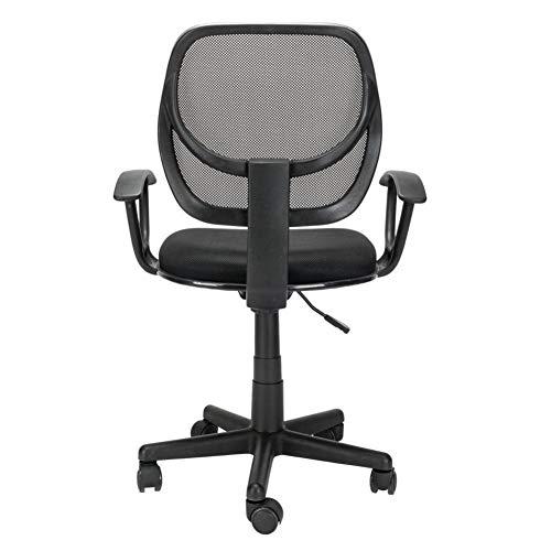GFDFD Chaise de Bureau exécutif - Chaise de Bureau à Haut Dossier avec Repose-Pied et Rembourrage épais - Fauteuil inclinable Ergonomique Ordinateur avec segmentée Retour, Noir