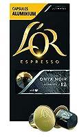 *marque appartenant à un tiers n'ayant aucun lien avec JACOBS DOUWE EGBERTS Pour des cafés ristretto, espresso ou latte - Intensité 12 Intense - puissant – amer ONYX noir est un hymne à l'essence ultime du pur espresso: noble, noir et racé Sa torréf...