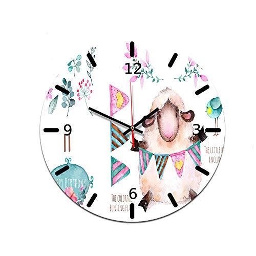 LUOYLYM Cartoon Muster Uhr Wanduhr Acryl Dekorative Uhr Stumm Bewegung Uhr Wohnzimmer Wanduhr Ctt-73 28CM